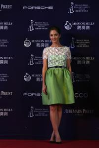 Minka Kelly - World Celebrity Pro-Am golf tournament, opening ceremony in China; October 19, 2012