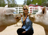 Laura Vandervoort - Visiting Gentle Barn Animal Sanctuary - March 28, 2012 (x12)