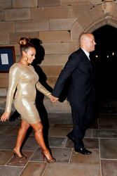 Melanie Brown(along with her curves) & Hubby Out In Sydney 11/10/11